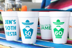 custom cups for mexican party