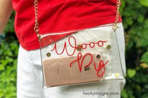 stadium approved clear purse